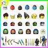 NEW Kids Toys Ninja Figures Building Blocks Ninjaed Mecha Warrior Training Suit Stand Katana Movie Character Birthday Present