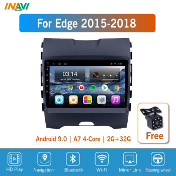 9'' IPS Android 9.0 Car Radio Multimedia For Ford Edge Ranger 2015-2018 GPS Navigation Navi Player Auto Stereo image