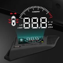 liislee car hud head up display for honda accord civic 2015 2016 safe driving screen projector refkecting windshield XINSCNUO For Volkswagen T-ROC 2019 2020 Safe Driving Screen Full Function OBD Car HUD Head Up Display Projector Windshield