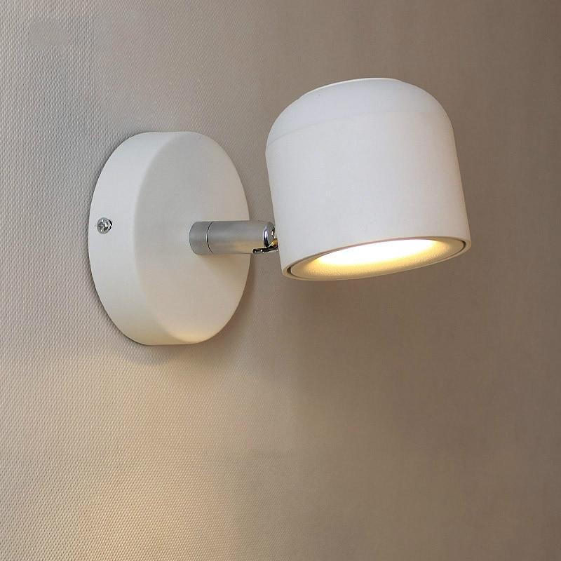 LED Nordic wall lamp bedside reading light adjustable angle corridor porch aisle balcony light mirror headlights WJ912