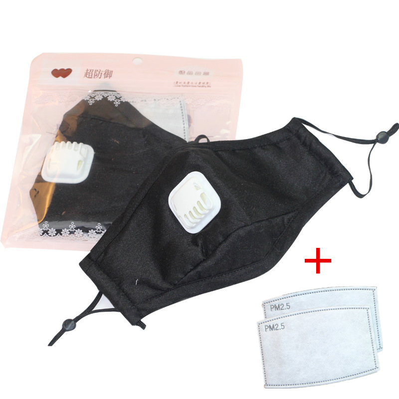 Cotton PM 2.5 Mouth Masks Anti Dust Mask Activated Carbon Filter Windproof Mouth-Muffle Bacteria Proof Flu Face Masks Care