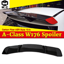 W176 Revozport Rear Roof Spoiler Tail Wing AER Style Carbon Fiber For A Class A180 A200 A250 A45AMG 13-18