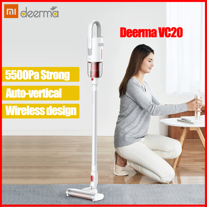 2019 nouveau Xiaomi Deerma VC20 aspirateur Auto-Vertical portable sans fil bâton aspirateur 5500Pa aspirateurs pour la maison voiture