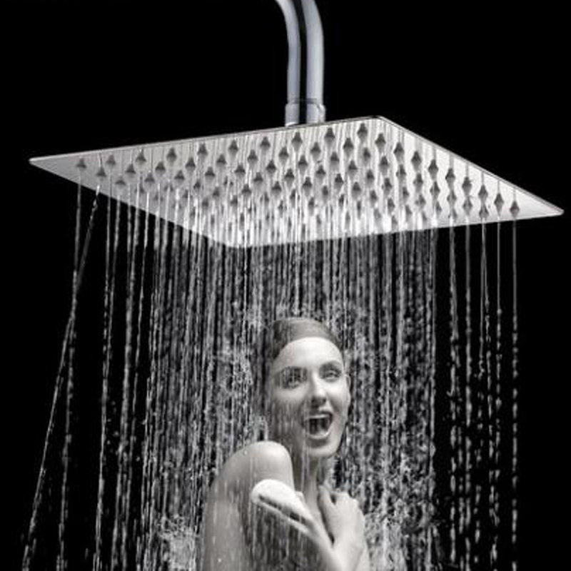 Dofaso 10-40cm Big Shower Head Stainless Bathroom Shower Top Head Rain Square Rainfall Shower Head Ultrathin