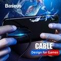 Baseus дизайн для игр кабель для iPhone кабель для зарядки с красочными лампами usb type C кабель для samsung Xiaomi USB C интерфейс