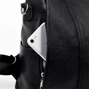 Image 5 - มัลติฟังก์ชั่ผู้หญิงMochilaคุณภาพสูงหนังนุ่มกระเป๋าเป้สะพายหลังไหล่กระเป๋าสำหรับสตรีAnti Theft BagPack Sac A Dos Femme