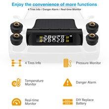 Tpms alarme de pressão dos pneus do carro sistema do monitor de alarme de segurança automática sistemas de alarme de pressão de pneus aviso de temperatura