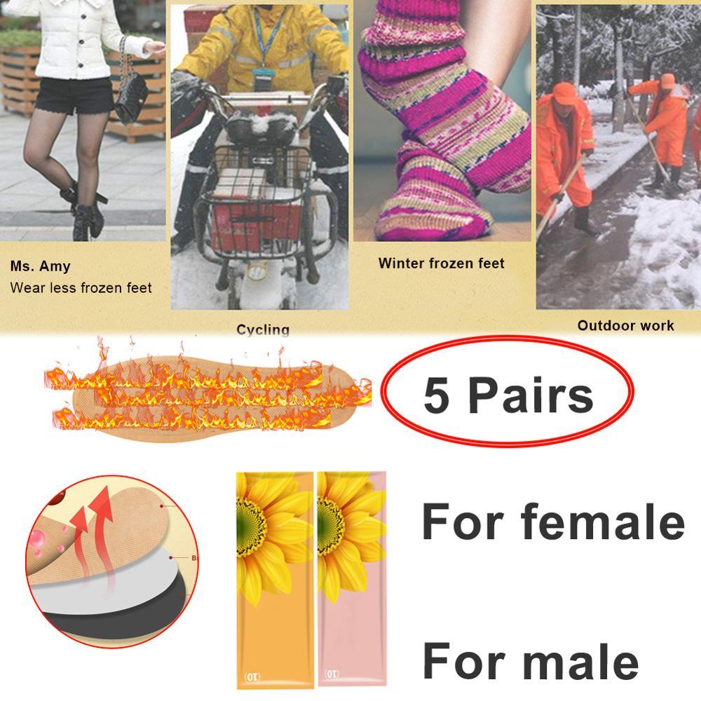 5 пар одноразовые нагревательные стелька теплые ноги наклейки зарядка подходит для зимних спортивных мужчин и женщин моделей