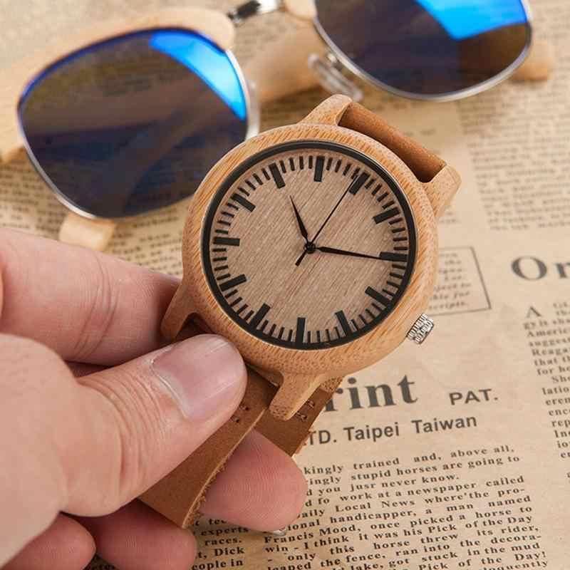 1 Máy Tính Tre Đồng Hồ Nữ Dây Da Công Bằng Gỗ Nam Handmade Tre Tiểu Thuyết Lắc Tay Thời Trang Đồng Hồ Đeo Tay Thạch Anh Reloj hombre