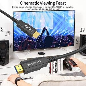 Image 5 - Hình Thật 100% Sợi Cáp Quang HDMI Tương Thích 2.1 8K Tốc Độ Cao 48Gbps 8K @ 60Hz 4K @ 120Hz HDCP2.2 HDR4:4:4 Cho PS5 HD Blu ray Chơi