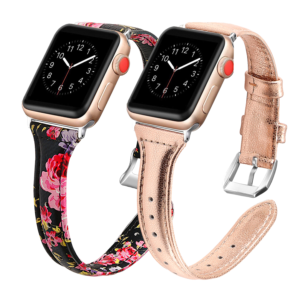 Leather Band For Apple Watch Strap 38mm 42mm IWatch 5 Band 44mm 40mm Genuine Leather Watchband Slim Bracelet Apple Watch 4 3 2 1