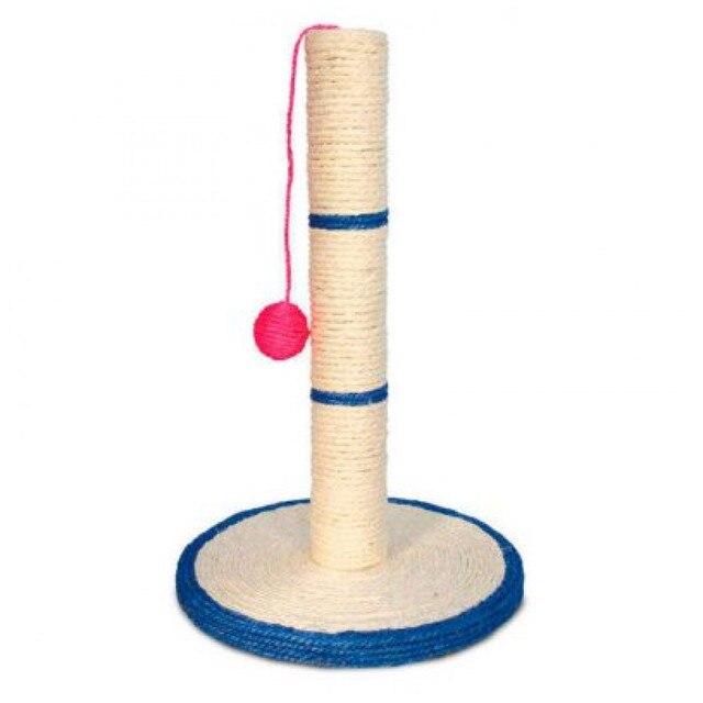 Когтеточка для кошек Triol, на подставке, с шариком