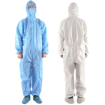Anti Dust and Disposable Medical Protective Clothing in Hooded and Zipper Design Used as Isolation Suit