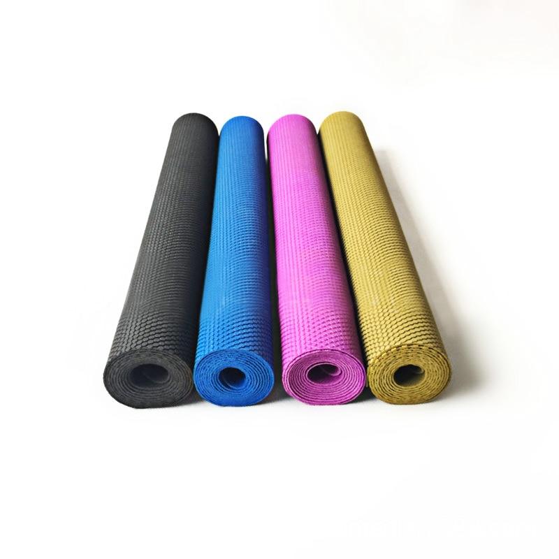 Tapis de Yoga en caoutchouc naturel pliable Ultra-mince couverture de Yoga Portable antidérapant coussin de voyage sac pliant Pilates 183cm * 61cm * 0.2cm