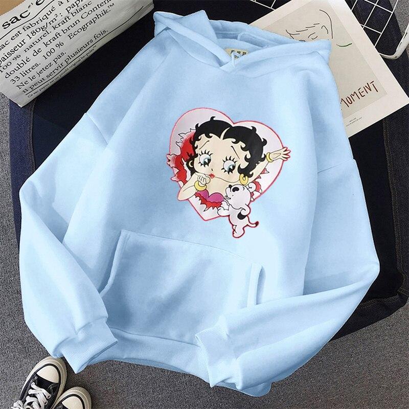 Plus Size sweatshirt Women Summer 2021 Spring Oversized Cute Print hoodie Cute Hip hop Kawaii Harajuku womens tops clothes 8
