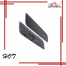 Gloss preto seco fibra de carbono adicionar no tipo estilo do carro lado fender guarnição ventilação de ar para-bmw série 5 g30 g38 sedan 2017-on-2pcs