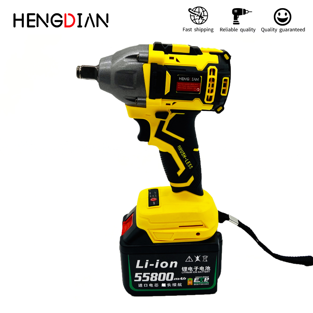 Hot Sale 21V Rechargeable Industry Lithium Electric Wrench Cordless Impact Wrench