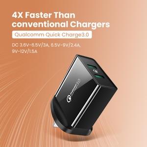 Image 3 - Ugreen cargador de pared USB de carga rápida para móvil, cargador de pared con QC 3,0 de 36W para Samsung, Xiaomi, iPhone X, QC3.0, Adaptador europeo