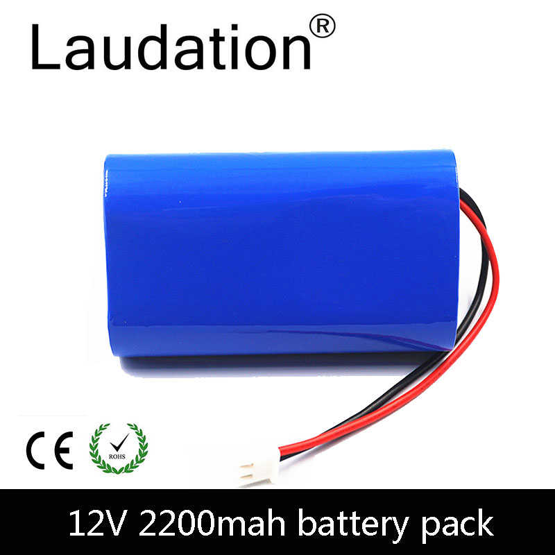 laudation 12V <font><b>Battery</b></font> <font><b>Pack</b></font> 12V 2200mAh 18650 <font><b>Battery</b></font> <font><b>Pack</b></font> 12.6V Rechargeable <font><b>Batteries</b></font> <font><b>3S</b></font> 1P For Portable Charger/LED/ Hot Sale image