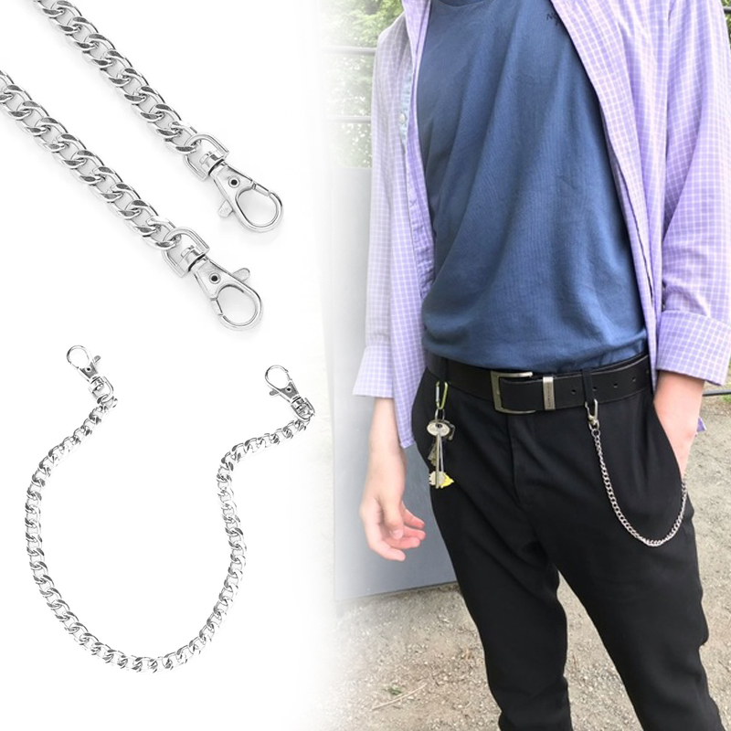 Keychain Clip Chain Hip Hop Metal Trousers Pant Belt Ring Hipster Biker Punk Waist Chains Jeans Accessories Rock Clip Trendy