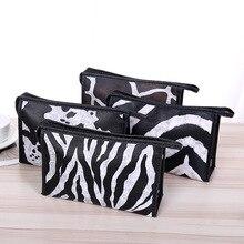 Leopard Snakeskin Zebra-stripe Women Cosmetic Travel Make Up