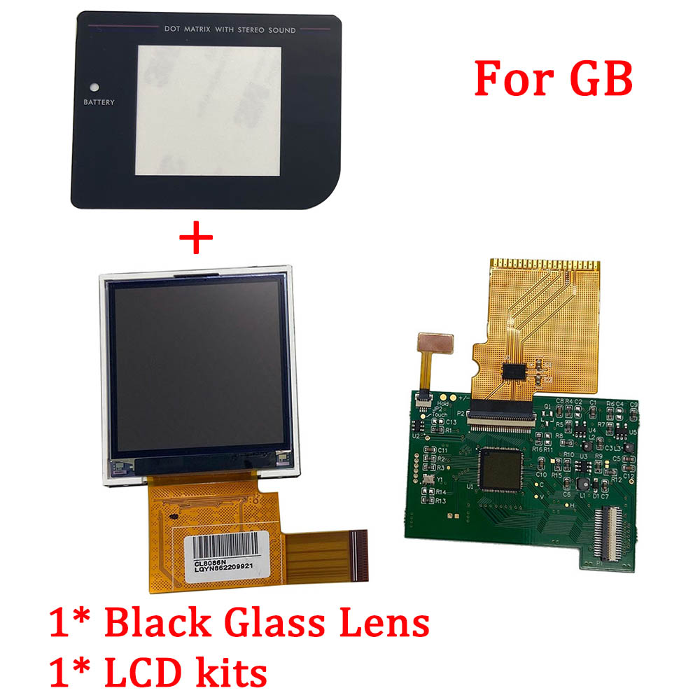 New LCD With Screen Kits For Nintend GB Backlight Lcd Screen High Brightness LCD Replacement For GB DMG GBO Console Accessories