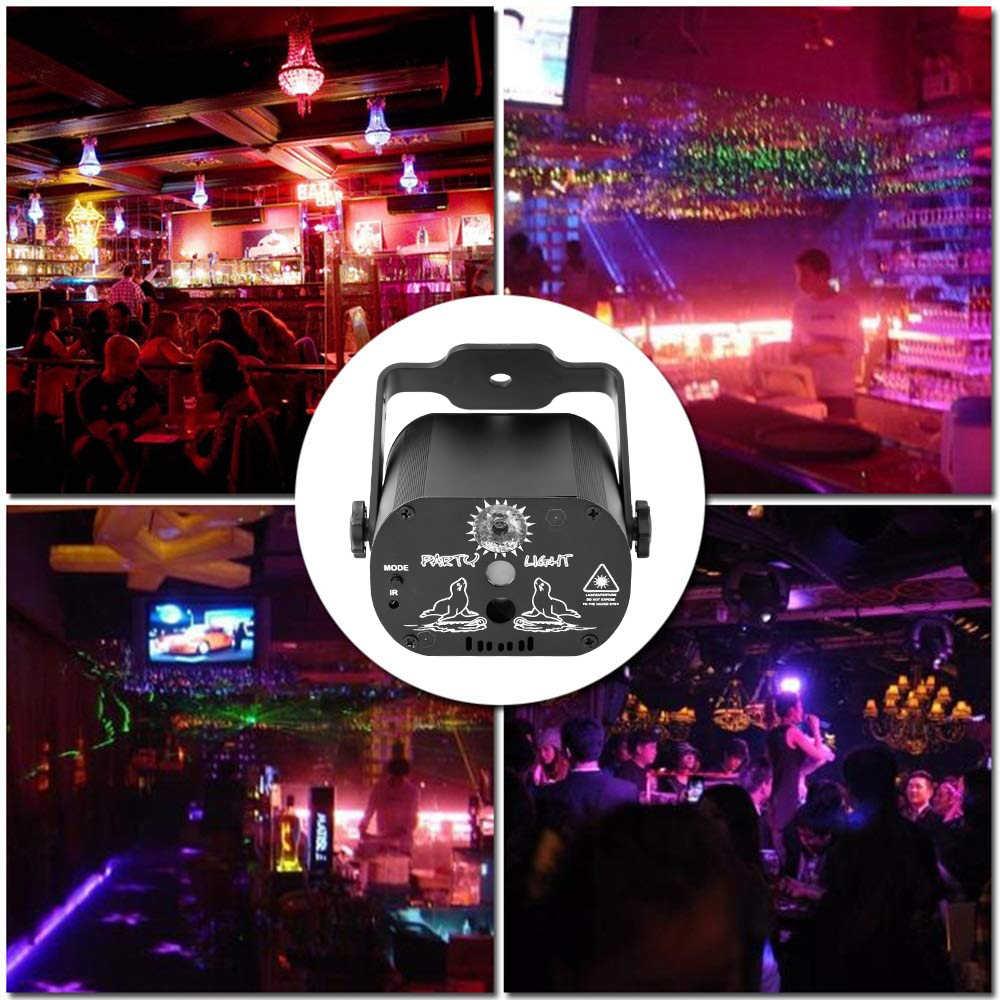 Disco Laserlicht 5V Usb Opladen 60 Patronen Rgb Laser Projectie Lamp Podium Verlichting Show Voor Home Party Ktv dj Dance Floor