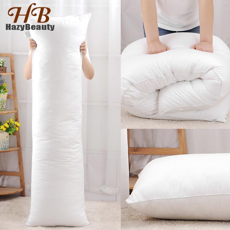 Hazbeauty 160x50CM Long Pillow Inner White Body Cushion Rectangle Sleep Nap Pillow Home Couples Bedroom Bedding Pillow 150x50CM