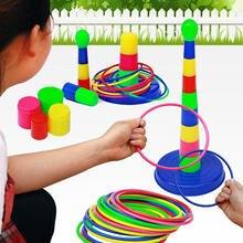 Brinquedos educativos interativos do pai-filho do jogo do lance da virola do círculo do anel das citações destacáveis para fontes exteriores internas
