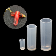 3Pcs Silicone Mold DIY Resin Jewelry Pendant Necklace Cylinder Pendant Mould L4ME