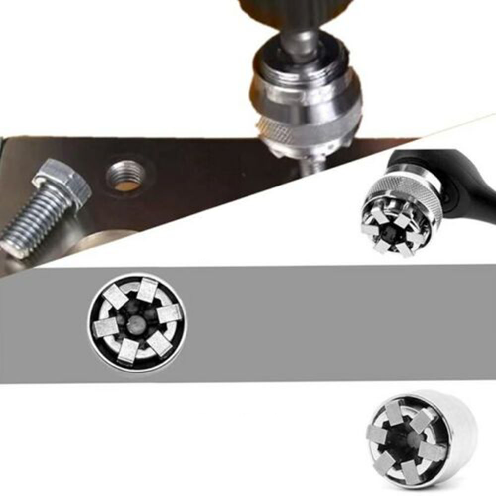 1pc 10-19mm Socket Wrench Sleeve Adjustable Home DIY Single Head Universal Attachment Remover Hand Tools Nuts Bolts