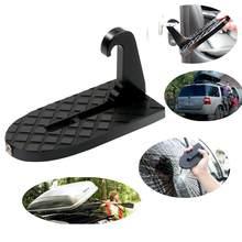 Novo 1 pçs dobrável porta do carro trava gancho passo mini pé pedal escada para jeep suv caminhão telhado