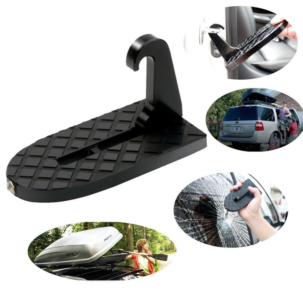 Olomm 1 pçs dobrável porta do carro trava gancho passo mini pé pedal escada para jeep suv caminhão telhado