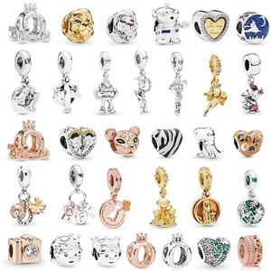 2Pcs/lot Special Offer Dinosaur Charms Beads fit Pandora Bracelets Necklace for Women DIY Jewelry Accessories Ladybug Lion Zebra(China)