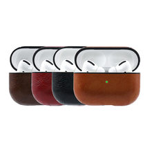 Bluetooth headphone leather apple airpods pro charging box case leather case airpods pro(China)