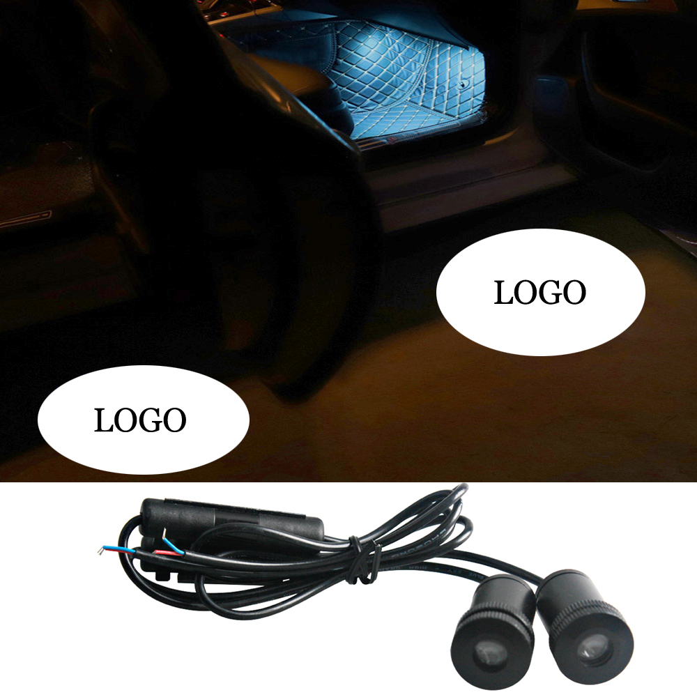 Car Styling 4Ring For Audi Logo Projector Ghost Door Light Welcome Ambient Interior Lighting Atmosphere Lamp