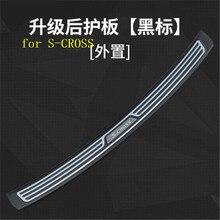ABS Задний бампер протектор порога багажника протектора пластина Накладка для Suzuki S-CROSS 2013- автомобильный Стайлинг быстрая