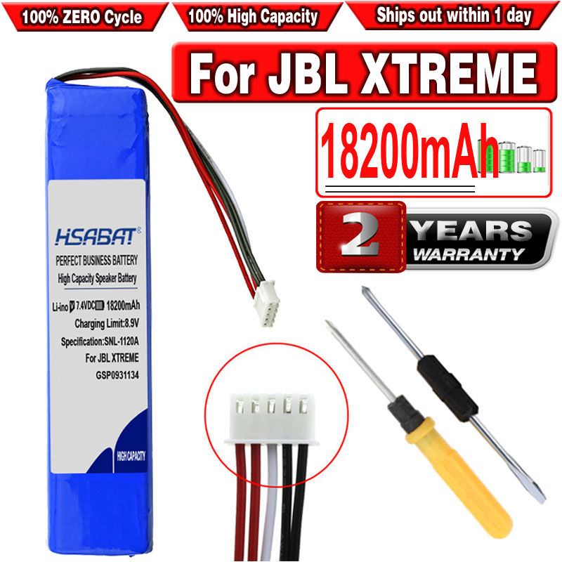 HSABAT 18200mAh GSP0931134 Battery for JBL XTREME Xtreme Speaker Batteries(China)