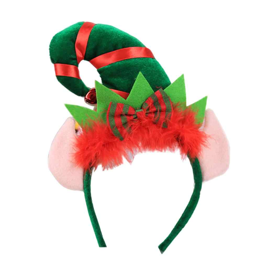 New Christmas Irish Day Creatival Pointed Hat Cap Feather Bowknot Headband Fine Children Adult Hairband Best Gift Party Prop 1PC