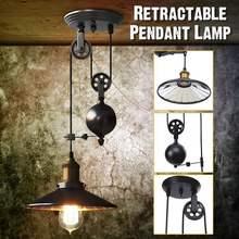 E27 negro vintage industrial colgante luz nórdico retro Luz de hierro pantalla edison desván lámpara ajustable comedor campo