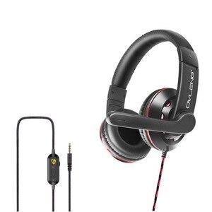 Профессиональные проводные наушники, гарнитура с басами, стерео звук, игровые гарнитуры, складные проводные наушники с микрофоном для PS4 PC