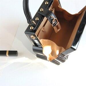 Image 5 - אופנה שחור רכב צורת אקריליק תיבת צורת נשים תיק כתף תיק ארנק Crossbody תיק נשי מסיבת מצמד תיק מעצב תיק