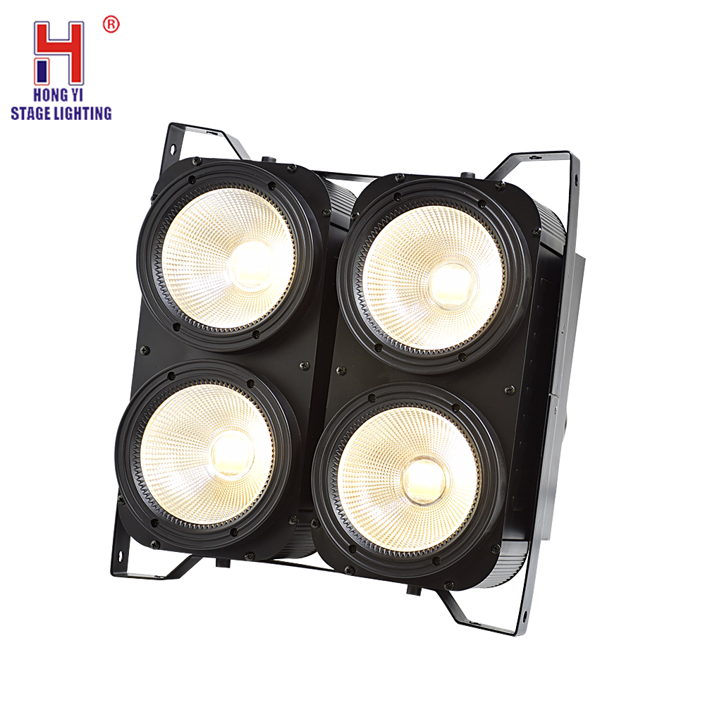 4x100W 4 Eyes LED Blinder Light COB Cool And Warm White LED High Power Professional Stage Lighting For Dj Disco Party