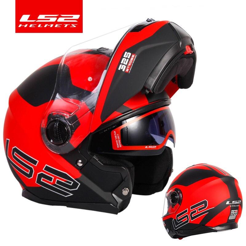 Original LS2 STROBE flip up motorcycle helmet ls2 ff325 full face helmets capacete cascos moto casque DOT approvedHelmets   -