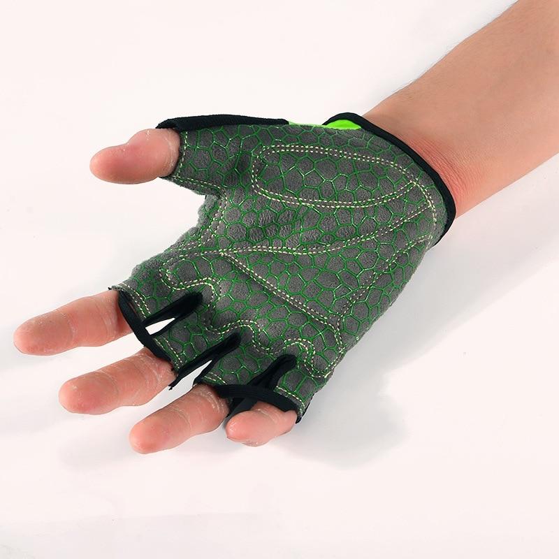 Купить с кэшбэком BOODUN Summer Shockproof Cycling Gloves Half Finger Outdoor MTB Road Bike Bicycle Gloves Sports Mitten for Children Men Women