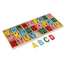 Boîte de rangement pour lettres de l'alphabet | 156 pièces avec plateau de rangement, jouets éducatifs pour enfants