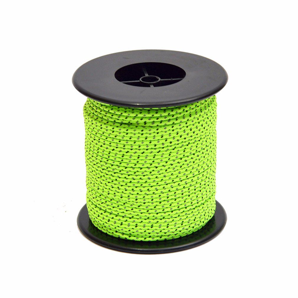 50m Reflective Guyline Camping Tent Rope Runners Guy Line Cord Paracord Outdoor Sports Camping Hiking Tent Accessories