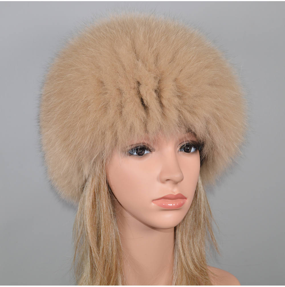 Hd2879cb58d8643bfba5663a3bf930e33d - New Luxury 100% Natural Real Fox Fur Hat Women Winter Knitted Real Fox Fur Bomber Cap Girls Warm Soft Fox Fur Beanies Hats
