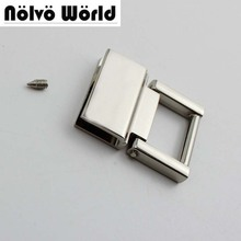 20pcs 36*28mm 4 색 금속 피팅 하드웨어 핸드백/가방의 술 캡 걸쇠 사각형 버클 나사 커넥터 가방 행거