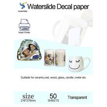 Waterslide Decal Paper Transferable Inkjet for Mug Clear